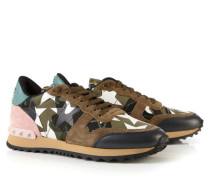 Gemusterter Sneaker mit Nieten Grün/Multi
