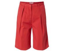 Baumwoll-Bermuda Rot