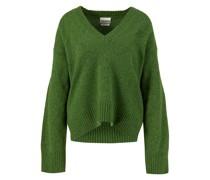 Woll-Pullover mit V-Ausschnitt