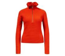 Woll-Cashmere-Pullover mit Reißverschluss