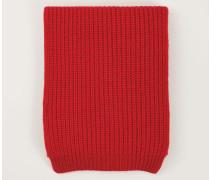 Grobstrick Cashmere-Schal Rot