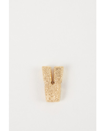 Anhänger 'Sparkly Letter V' 18K Gelbgold