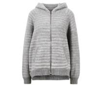Cashmere-Pullover 'Viosa' mit Kapuze und Streifen