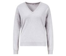 Klassischer Cashmere-Pullover mit V-Ausschnitt