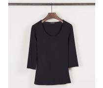 Shirt mit Rundhals-Ausschnitt Marineblau