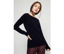 Woll-Cashmere Pullover Marineblau