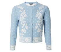 Kurze Strech-Jacke Blau/Weiß
