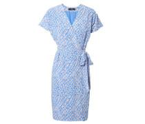 Seiden-Print-Kleid mit Schleifen-Detail Multi