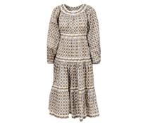 Baumwoll-Kleid mit Medallion-Print Multi