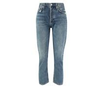 Jeans 'Riley Crop' im used-look