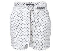Baumwoll-Shorts mit Punkten Weiß/Navy