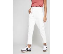 Jeans mit abgeschnittenem Saum Weiß