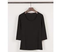 Shirt mit Rundhals-Ausschnitt Schwarz