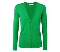 Woll-Cardigan 'Madeline' mit Logo-Knöpfen Grün