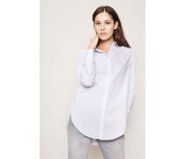Gestreifte Baumwoll-Bluse 'Cloe' Hellblau/Weiß