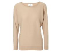 Cashmere-Pullover mit ovalem Ausschnitt Toffy Beige