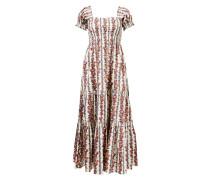 Kleid mit floralem Muster Crème/Multi