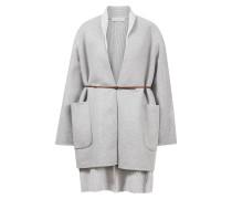 Woll-Cashmere-Jacke mit Strickweste