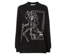 Oversize-Pullover mit strukturiertem Print Schwarz/Weiß