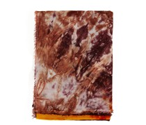 Cashmere-Tuch mit Batikmuster /Orange