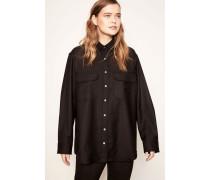 Oversized Shirt 'Ebony' Schwarz