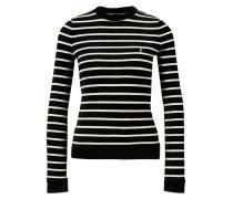 Langarmshirt mit Rundhalsausschnitt Schwarz/Weiß