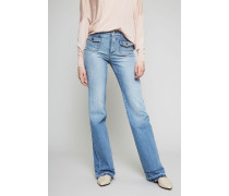 Highwaist Wide-Leg-Jeans Hellblau