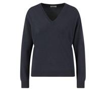 Cashmere V-Neck Pullover Marineblau