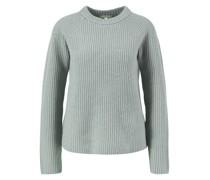 Cashmere-Pullover 'Shaker' Grau/Grün