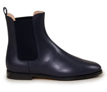 Chelsea Boots aus Glattleder Dunkelblau