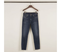 High Rise Skinny Jeans 'Rocket Ankle' Mittelblau