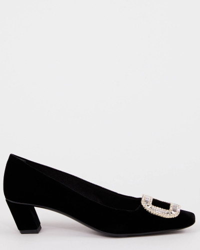 "Samt-Pumps ""Belle Vivier Strass Buckle"""