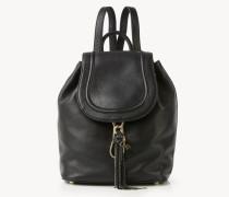 Rucksack 'Love Power Large Leather Backpack' Schwarz