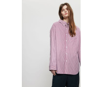 Baumwoll-Bluse Red Stripe