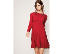 Strick-Kleid Rot