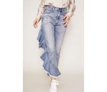 High Waist Volant-Jeans 'Estella' Blau