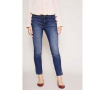 Jeans Mid Rise Skinny 'Zion' Mittelblau