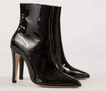 Ankle Lackleder-Boots Schwarz