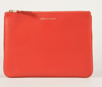 Leder-Clutch Orange