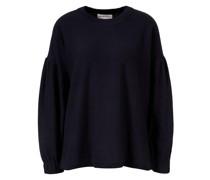 Baumwoll-Cashmere Pullover 'Delle' Marineblau