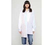 Oversized Baumwoll-Bluse 'Gingham Shirt' Multi