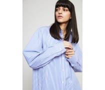 Oversize Baumwoll-Bluse Blue Stripe