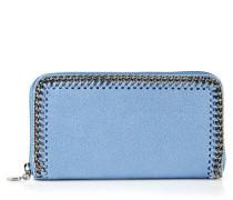 Großes Portemonnaie mit Ketten-Umrandung Himmelblau