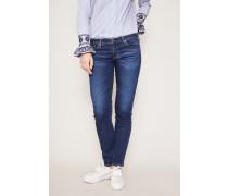 Jeans 'The Stilt Cigarette Leg' Mittelblau