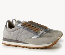 Sneaker mit glänzendem Element Grau