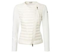 Baumwoll-Cardigan 'Maglia' mit asymmetrischem Zipper Weiß
