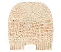 Woll-Cashmere-Mütze mit Paillettendetails
