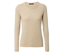 Cahmerepullover 'Duffy' Beige