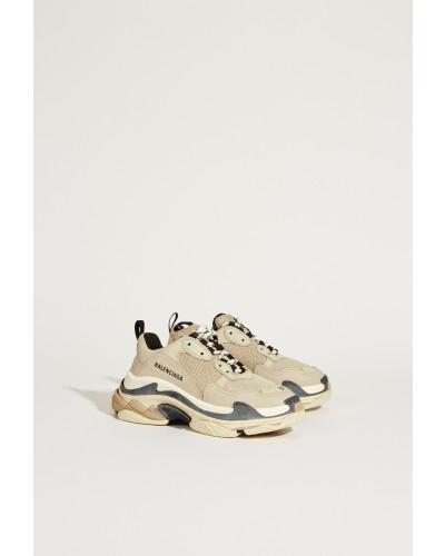 Sneaker 'Triple S' Beige/Schwarz