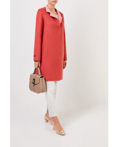 Cashmere-Woll-Mantel Coral